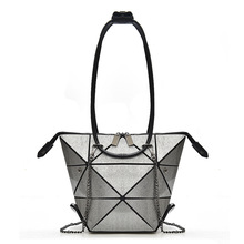 Variety shape women handbag nylon female fashion bags geometric shoulder bag High Quilted Laser Plain Folding Handbags