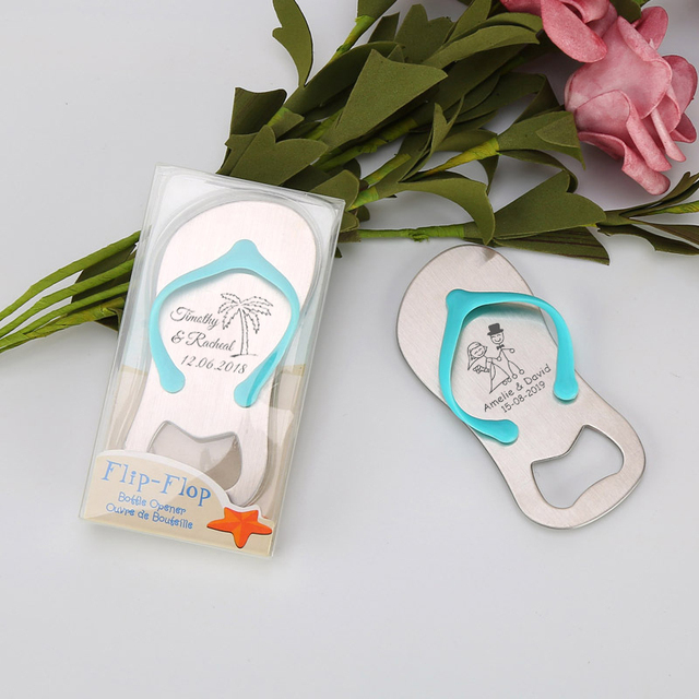 Personalized Wedding Gift For Guest Flip Flop Slipper Shaped Beer