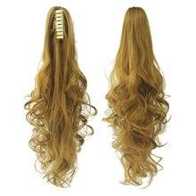 Feibin волосы с конским хвостом для женщин заколки крабы наращивания