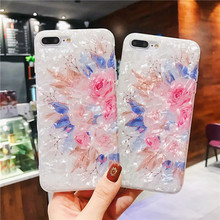 Soft TPU Cover for Iphone 7 Plus Case Luxury Flower Shell Phone Cases Xs / Max 8 6 6S Xr
