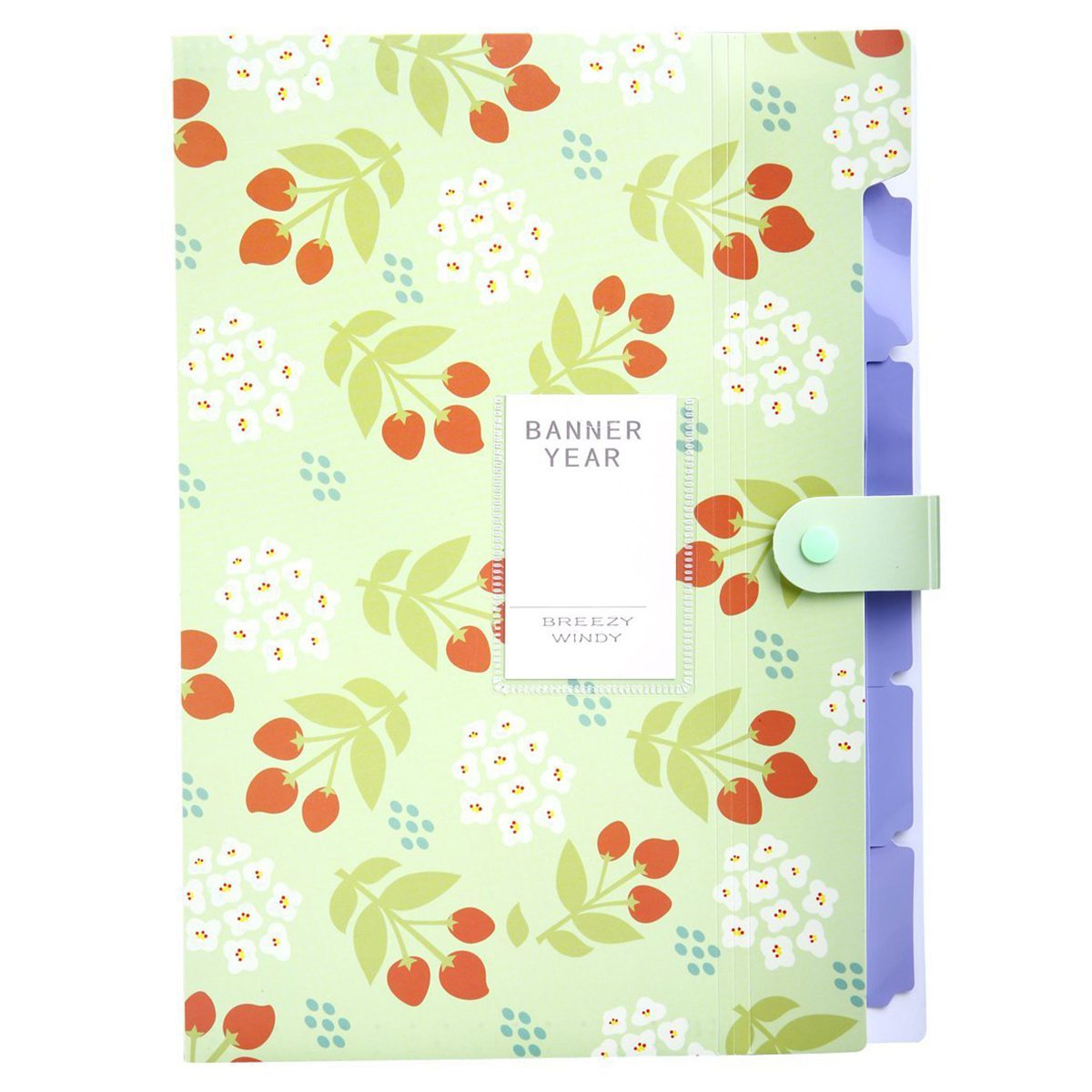 Skydue Floral Printed Accordion Document File Folder Expanding Letter Organizer (Green) skydue floral printed accordion document file folder expanding letter organizer blue