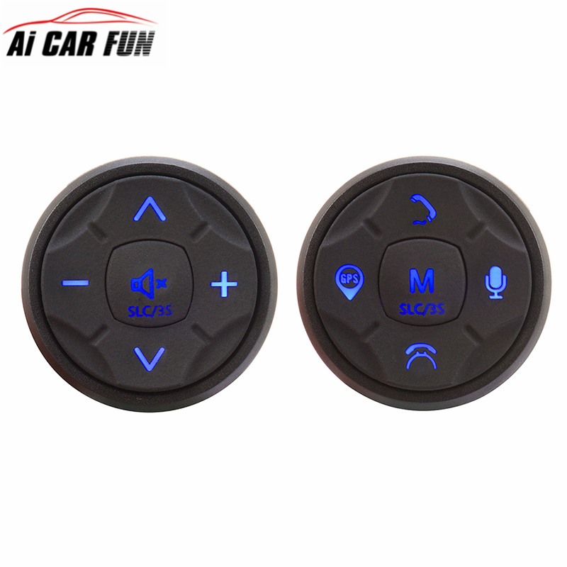 Universal Wireless Car Multimedia Steering Wheel Control Multi-function Button 10 Buttons DVD Navigation Button цена 2017