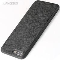 LANGSIDI Brand Phone Case Litchi Grain All Inclusive Phone Case For IPhone 7 Plus Phone Case