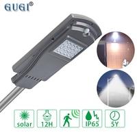 GUGI 20W 40W LED Solar Street lights with PIR Motion Sensor Light Control Waterproof IP65 Outdoor Solar Street Lamp for garden