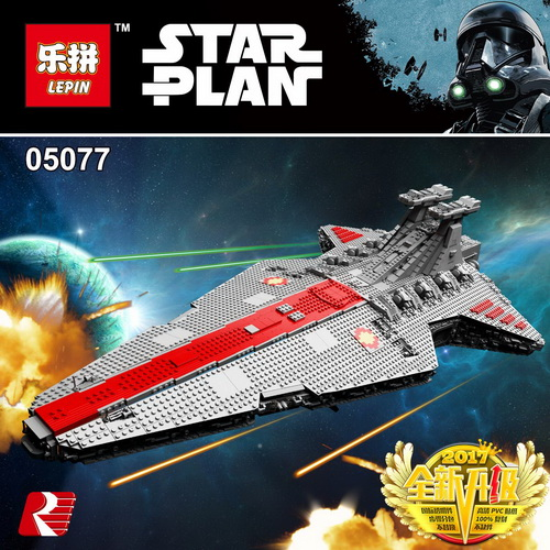 Lepin 05077 6125PCS Star Classic Wars The Ucs ST04 Set Republic Cruiser Educational Building Blocks Bricks Toys for legoed Gift lepin 05077 stars series war the ucs rupblic set star destroyer model cruiser st04 diy building kits blocks bricks children toys