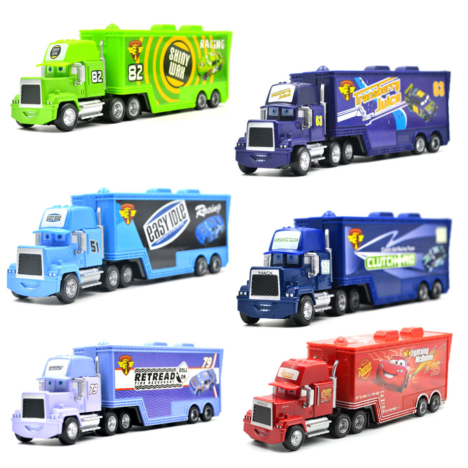 Disney Pixar Cars 3 9 Styles Mack Truck McQueen Uncle 1:55 Diecast Metal Alloy And Plastic Modle Toys Car Gifts For Children