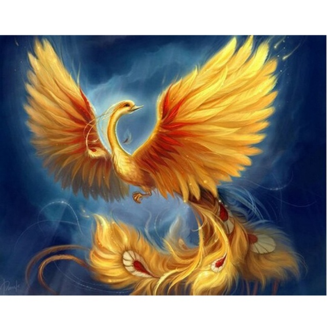 New Phoenix Needlework DIY Diamond Painting Cross Stitch Square Diamond Embroidery Home Decoration