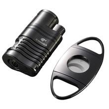 High-grade Black Gadgets Cigar Lighter and Sharp Metal