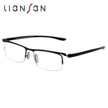 LianSan 2017 Fashion Plastic Half-rim Alloy Reading Glasses Women Men Luxury Brand Designer Portable Durable Lightweight L5019