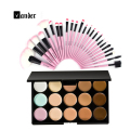 New Professional 24pcs/kits Makeup Brushes Set + 15 Colors Foundation Contour Face Cream Cosmetic Palette Styling Brushes Sets