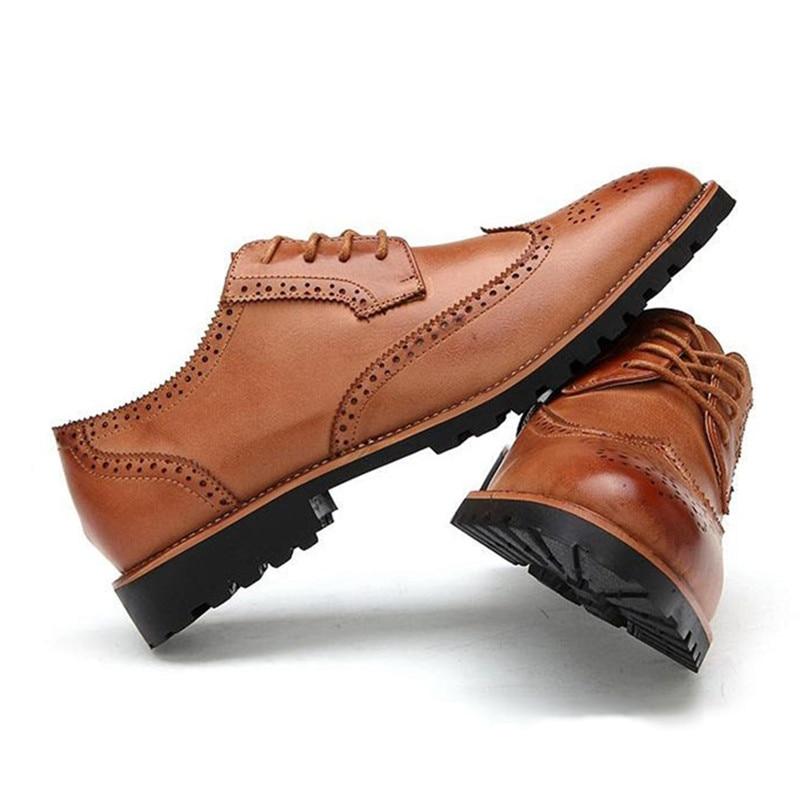 Shoes Dress Casual Marque Luxe Pour Black En Mariage Merkmak Oxfords Hommes Formelle Bureau Shoes Affaires Chaussures Robe Cuir De Mens brown Richelieu Classique vFqHwTB