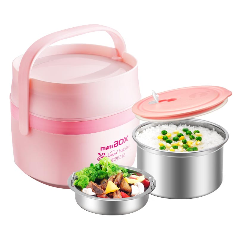 Electric Lunchbox Rice Cooker Double Insulation Mini Plug In Heating Cooking Portable 1.5L 1-2 People rice cooker parts paul heating plate 900w thick aluminum heating plate