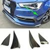 S Line S3 Carbon Fiber Front Bumper Canards Splitter For Audi S3 Sline 2014 2016 Sedan