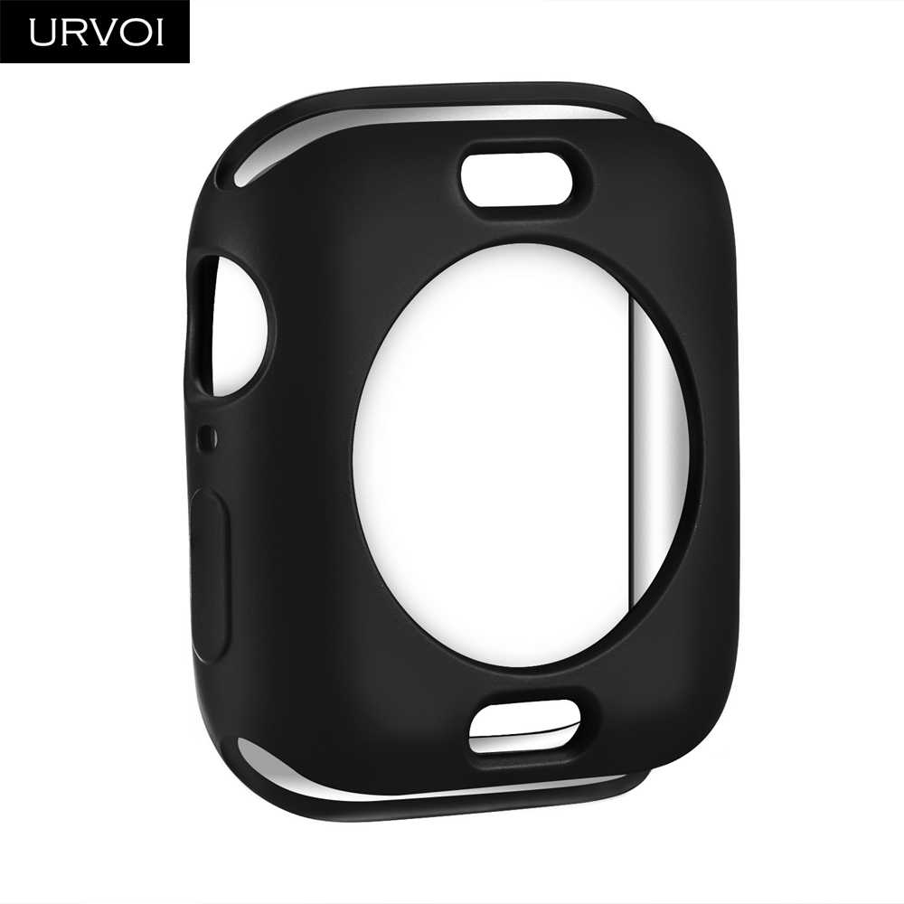 URVOI Bumper for apple watch 4 5 3 2 TPU case cover for iwatch protector slim fit frame matte color painting 38 40 42 44mm