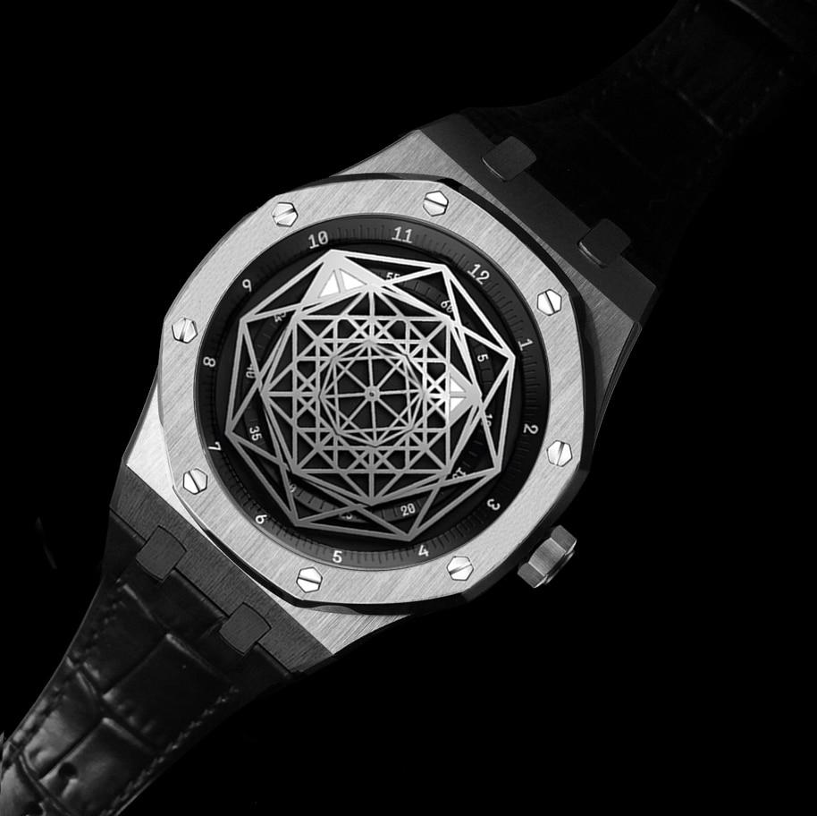 DIDUN Men Watches Top Brand Luxury Quartz Watch Rosegolden Fashion Business Watch 30m Waterproof Luminous Wristwatch