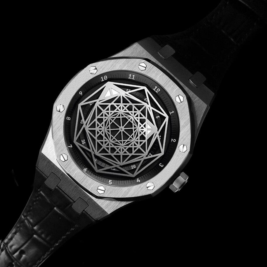 DIDUN hommes montres Top marque de luxe montre à Quartz Rosegolden mode affaires montre 30m étanche lumineux montre bracelet en cuir-in Montres à quartz from Montres    1