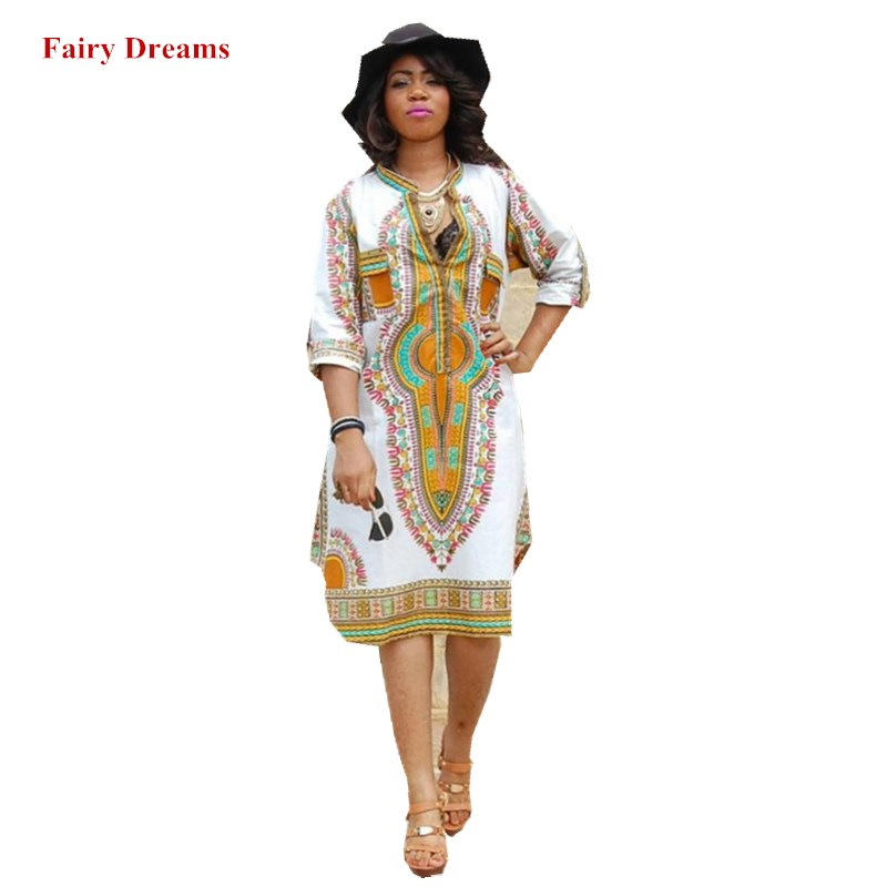 US $15.81 49% OFF Dashiki African Dresses For Women Summer Style Elastic  Plus Size Bodycon White Dress Ladies Traditional African Print Clothing-in  ...
