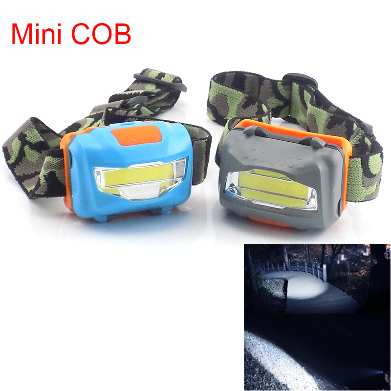 Mini COB Led Frontal Headlamp Flashlight Powerful Headlight AAA Battery Super Bright Fishing Camping Head Light Torches Lamp