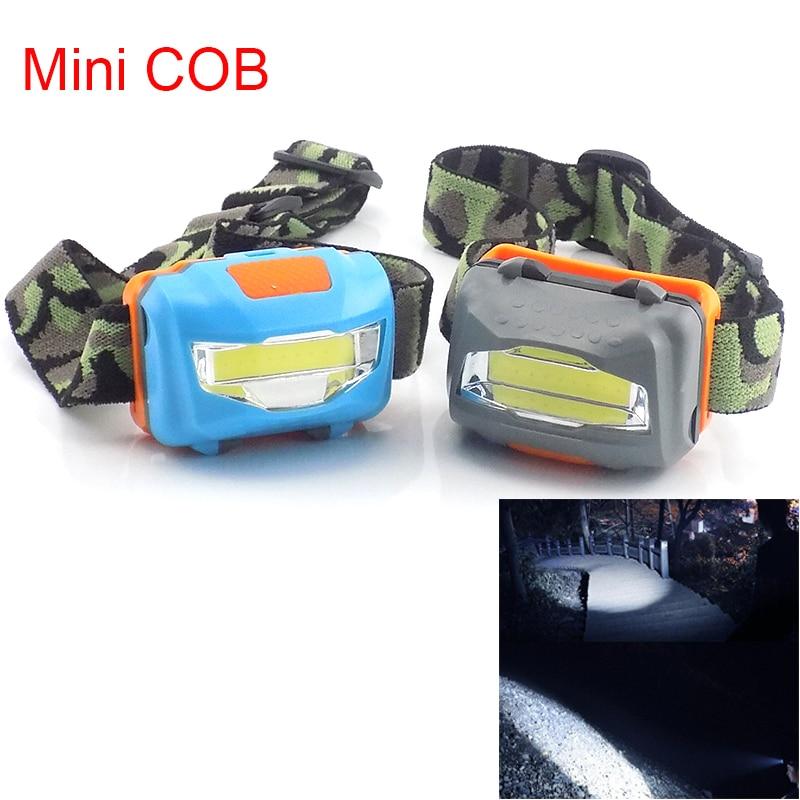 Mini COB Led Frontal Headlamp Flashlight Powerful Headlight AAA Battery Super Bright Fishing Camping Head Light Torches Lamp