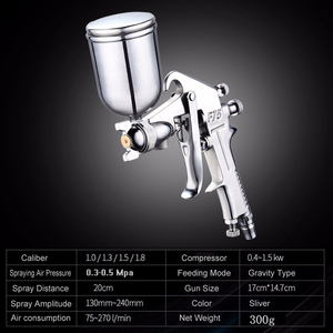 Image 3 - 400ML Spray Gun Professional Pneumatic Airbrush Sprayer Alloy Painting Atomizer Tool With Hopper For Painting Cars by PROSTORMER