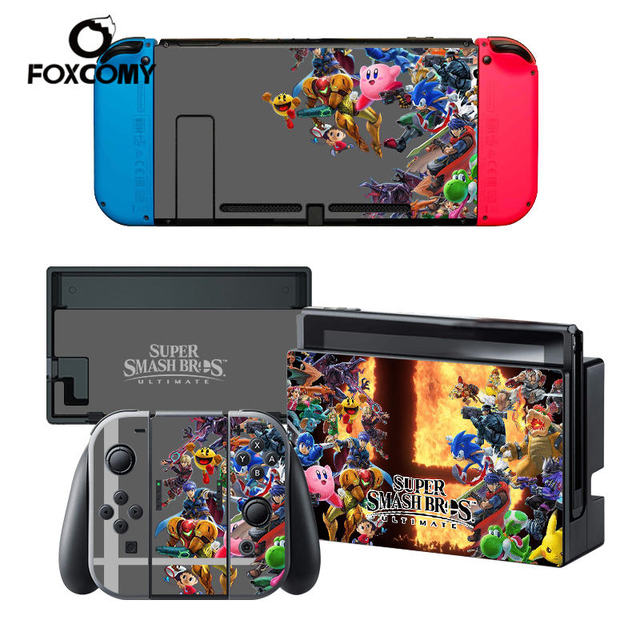 Custom Man Vinyl Console Cover For Super Mario Party For Nintend Switch Skin Stickers Controller Protective For NS Switch