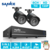 SANNCE New 1080N HD High Resolution 8CH CCTV Video Security System 2pcs Micro Camera Survelliance Kit