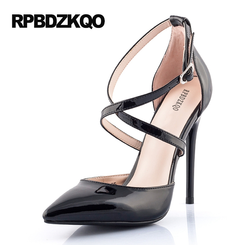 Red Prom Shoes High Heels 11 43 Ladies White Super Cross Strap
