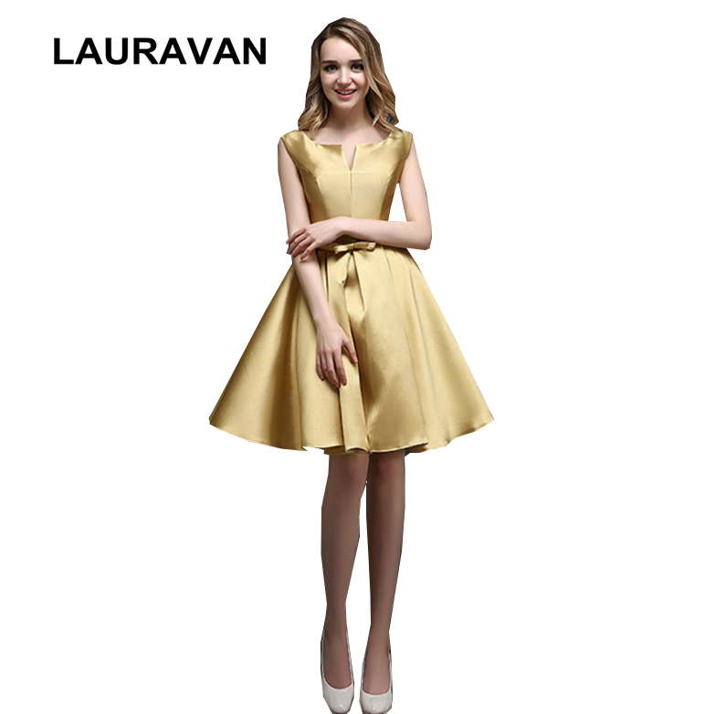 girl robe princess short gold color satin   bridesmaid     dress   elegant   dresses   for   bridesmaids   2019 ball gowns under 100