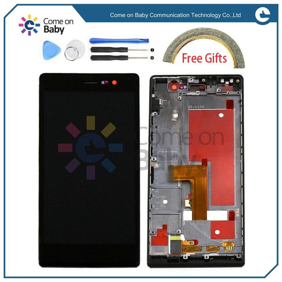 imágenes para Para Huawei P7 Pantalla LCD + Montaje Del Digitizador de la Pantalla Táctil de calidad Para Huawei Ascend P7 5.0 ''Teléfono (en stock) usted puede pagar