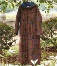 Выпуск продукта зимой 2016 года, оригинальный дизайн утолщение женщины сыпучих большой ярдов хлопка пальто