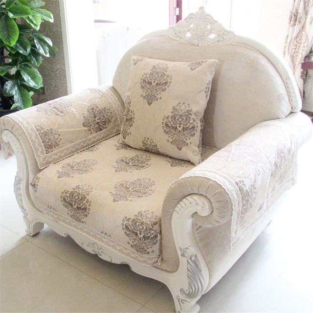 Chenille Sofa Fabric Cover Jacquard Couch Cover Printed Settee ...