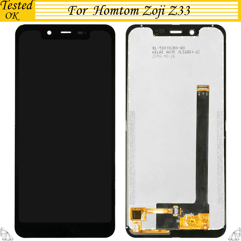 5.85'' For Homtom Zoji Z33 LCD Display+Touch Screen Digitizer Assembly Accessory For Zojii Z 33 LCD Black Color image