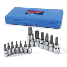 "WORKPRO 13PC Torx Bits Socket Set 1/4"" 3/8"" 1/2"" Dr. Bit Sets Home Tool Kits(China)"