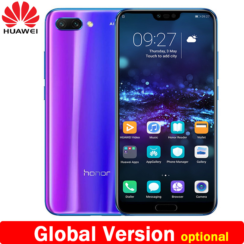 New Arrival Huawei Honor 10 5.84 Inch 2280x1080p Honor10 Screen Mobile Phone Octa Core Face Id Nfc Android 8.1 3400mah Battery