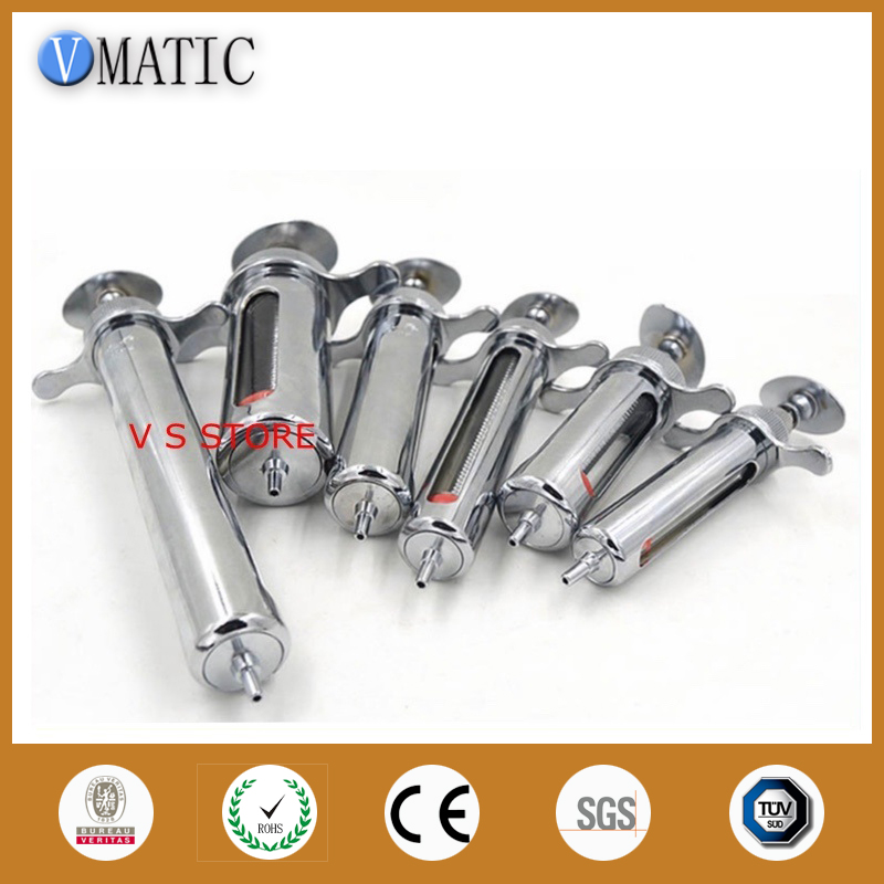 Well-made New 10ml Stainless Steel Metal Syringe 100x 10ml syringe of 44