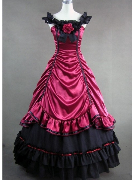 Red and Black Masquerade Ball Dresses