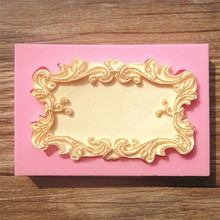 Flower Frame Silicone Mold for Fondant, Chocolate, Crafts Sugarcraft Cake Decorating Fondant / fimo mold Dessert Decorator