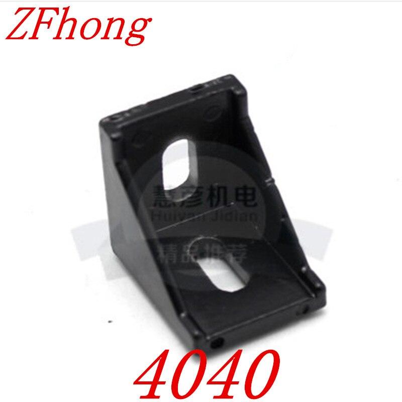 10pcs 4040 Black Corner Angle L Brackets Connector Fasten Fitting Long Hole for Aluminum Profile 4040 40x40 10pcs 4040 corner angle l brackets connector fasten fitting long hole for 4040 aluminum profile