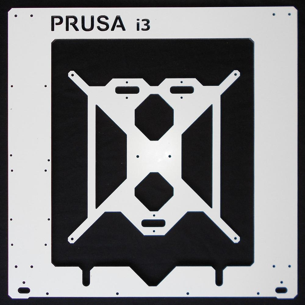 Prusa i3 RepRap 3D printer dibond aluminium frame single 6mm Aluminium composit Melamine Prusa frame kit 1set aluminium alloy prusa i3 mk3 frame kit with m5 tapped extrusions 6mm thickness