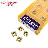 cnc cnc חותך CCMT060204 US735 10pcs מוסיף קרביד חותך האחרון פנימי הפיכת כלי מתכת CNC כלי חיתוך מכונת CNC (1)