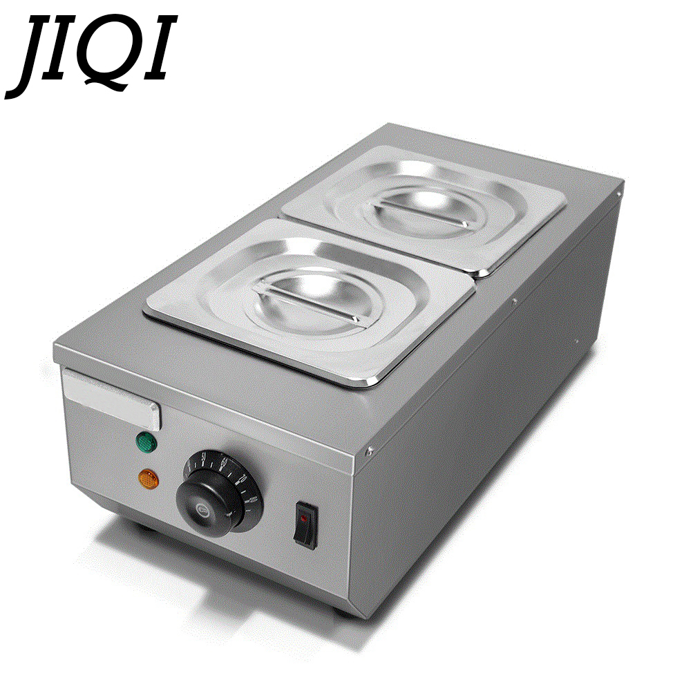 JIQI Chocolate melting pots commercial double hot chocolate dipping melting machine cylinder electric warmer melter 2 Lattices fast shipping food machine digital chocolate melting machine stainless steel chocolate machine household and commercial