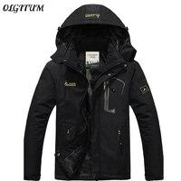 Hot Brand Winter Jacket Men Plus Velvet Warm Wind Parka Hooded Outdoor Sport Winter Coat Men