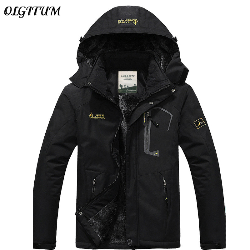 hot Brand winter jacket men Plus velvet warm wind parka hooded winter coat men JK368