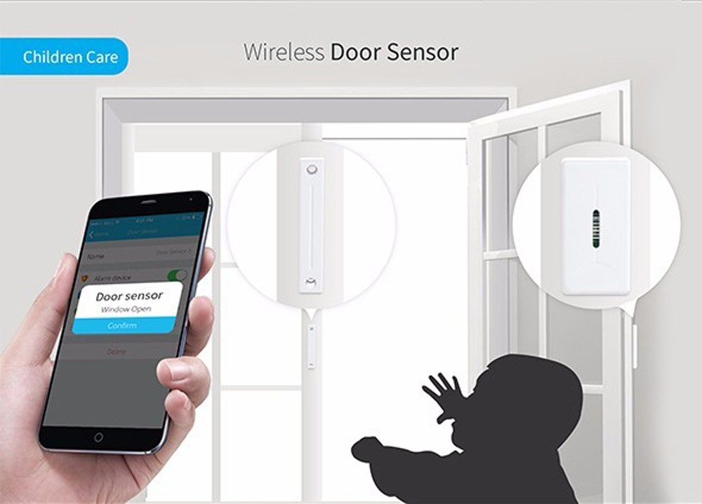 4--Broadlink S1C Smart Home Kit 433MHZ Door Sensor S1 Smartone Motion Detector Security Alarm System Remote Control by IOS Android