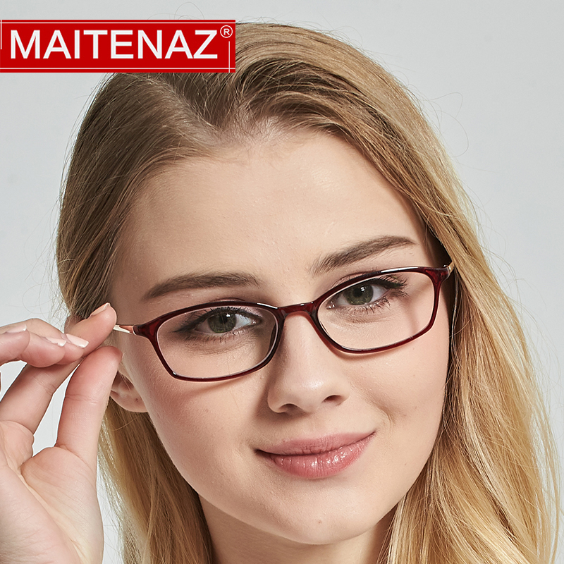 MAITENAZ Hyperopia-Glasses Women Lenses Myopia Anti-Blue TR90 Fashion Ray For Clear 7862