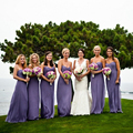 Elegant Purple Chiffon Bridsmaid Dresses Long A-line Sweetheart Girls Party Gowns 2015 Fashionable Vestidos de dama de honor