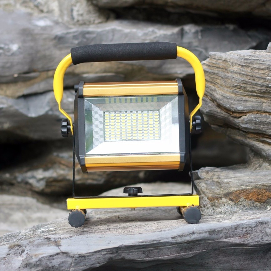 yupard SMD LED Searchlight flood light 100W 50W Spotlight high Brightness flashlight Outdoor camping lantern rechargeable 18650 30% off 2pcs ultrathin led flood light 50w black ac85 265v waterproof ip66 floodlight spotlight outdoor lighting free shipping