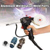 Aluminum Welders Gun Weld Parts Spool Gun Gas Shielded Welding with 7Pin Plug Push Pull Torch Welding Equipment