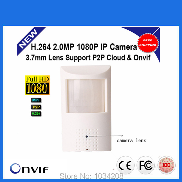 ФОТО PIR STYLE Motion Detector HD H.264 1080P 2.0MP Mini IP Camera Pinhole Onvif 2.0 P2P Plug and Play Security Network Cameras
