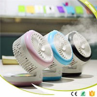 New Summer Humidifier Mini Fan USB Rechargeable Water Mist Fan With Lithium Battery Office Home Round